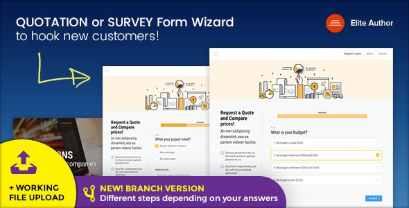 Quote v1.8 - Quotation or Survey Form Wizard preview image