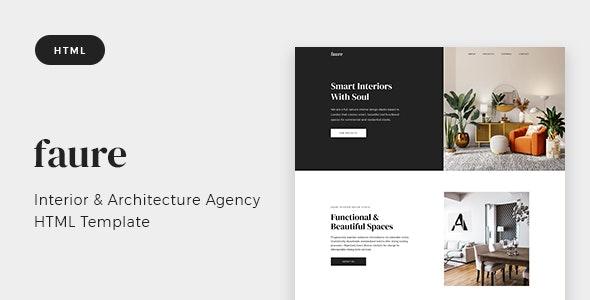 Faure v1.0 - Interior & Architecture Agency HTML Template preview image