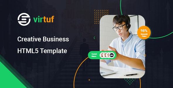 Virtuf v1.0 - Creative Agency Bootstrap 5 Template preview image