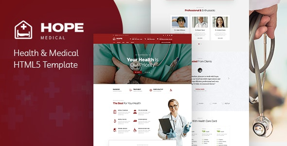 Hope v1.0 - Health & Medical HTML5 Template preview image