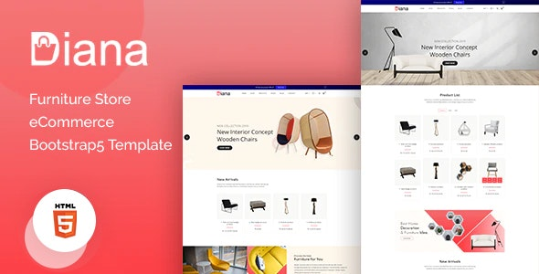 Diana v1.0 - Furniture Store eCommerce Template preview image