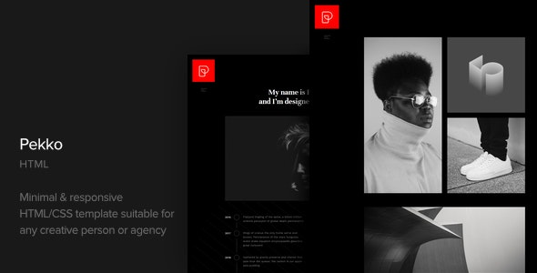 Pekko v1.0 - Minimal Black HTML Template preview image