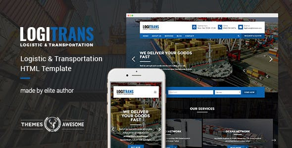 LogiTrans v1.0 - Logistic and Transportation HTML Template preview image