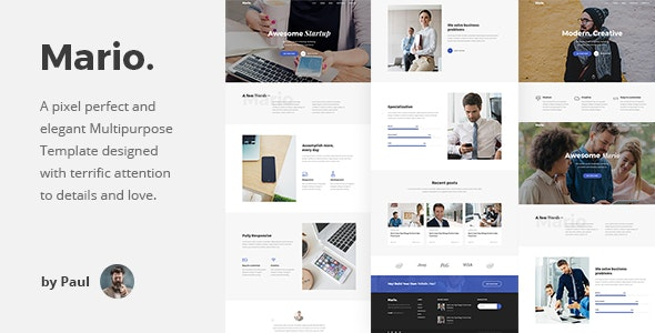 Mario v1.0 - Creative Agency HTML Template preview image