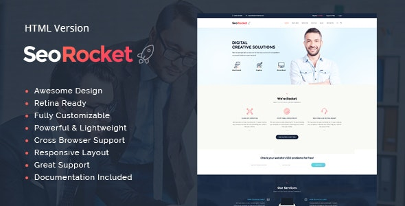 Seo Rocket v1.1 - Advertising & Marketing Site Template preview image