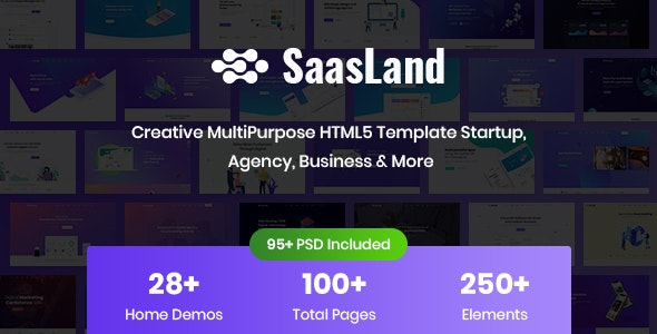 SaasLand v1.0 - Creative HTML5 Template for Saas, Startup & Agency preview image