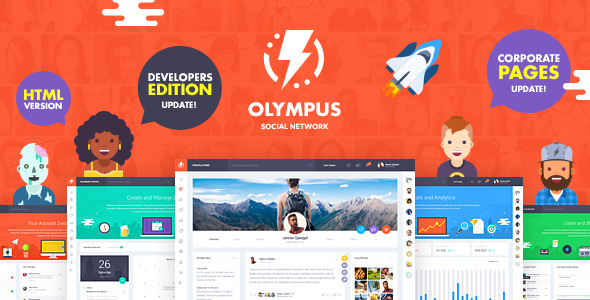 Olympus - HTML Social Network Toolkit - Updated preview image