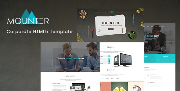 Mounter - Corporate HTML Template preview image