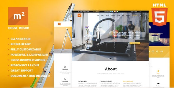 m2 v1.0 - Home Repair, Building & Maintenance Template preview image