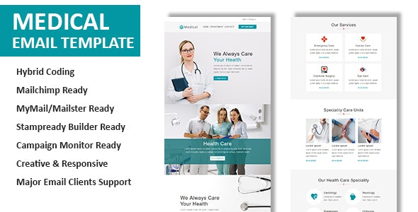 Medical v1.0 - Multipurpose Responsive Email Template preview image
