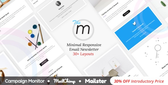 Miley - Minimal Responsive Email Template with Online Builder preview image