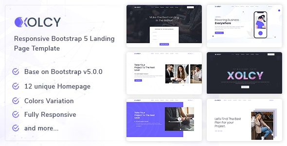 Xolcy v1.0 - Bootstrap5 Creative Landing Page Template preview image