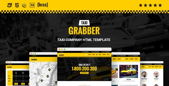 Taxi Grabber - HTML Template preview image