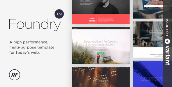 Foundry Multipurpose HTML v1.9.9.1 + Variant Page Builder preview image