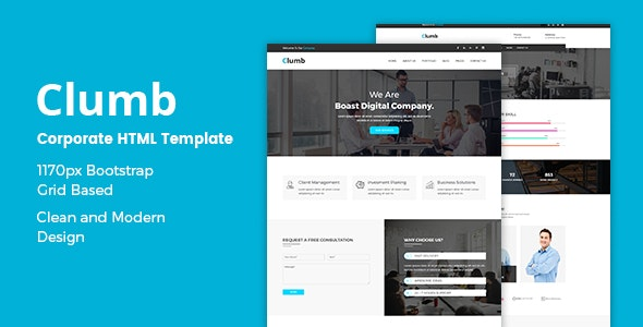 Clumb - Corporate HTML Template preview image