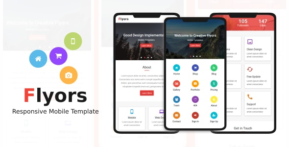 Flyors v1.0 - Responsive Mobile Template preview image