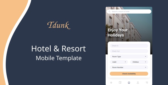 Tdunk v1.0 - Hotel & Resort Mobile Template preview image