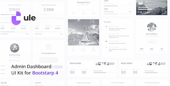 Ule v1.0 - Dashboard Template for Bootstrap preview image