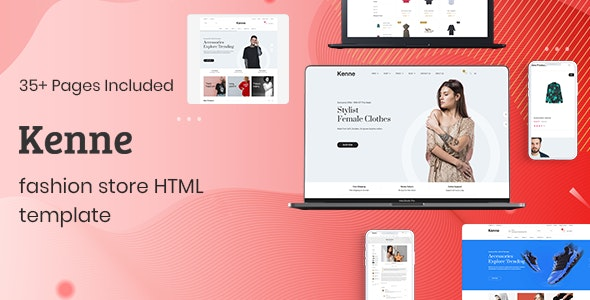 Kenne v1.0.1 - Fashion Store HTML Template preview image