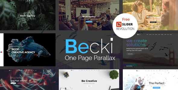 Becki v1.0 - Creative Parallax One Page HTML Template preview image