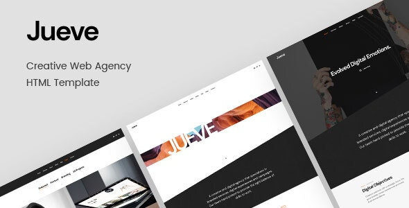 Jueve v1.0 - Creative Agency Onepage HTML Template preview image