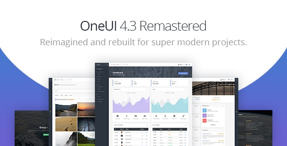 OneUI v4.3.0 - Bootstrap 4 Admin Dashboard Template & Laravel Starter Kit preview image
