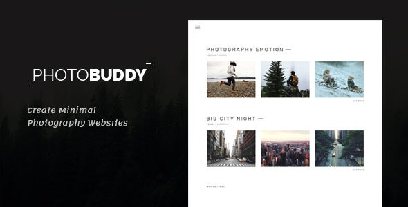 PhotoBuddy v1.0 - Photography HTML Template preview image