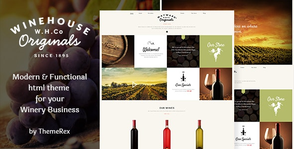Wine House v1.1 - Vineyard, Shop & Restaurant Site Template preview image