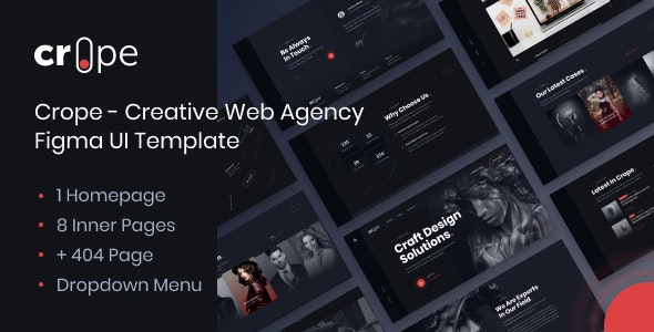 Crope v1.0 - Creative Web Agency HTML Template preview image
