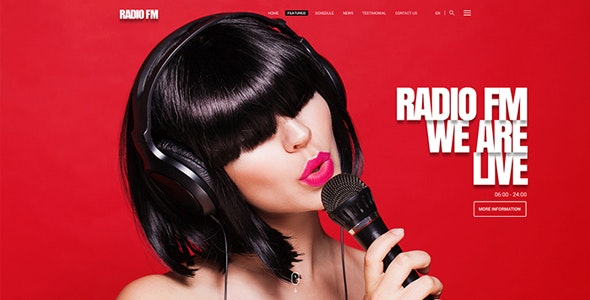 Radio FM v1.0 - HTML Bootstrap Template preview image
