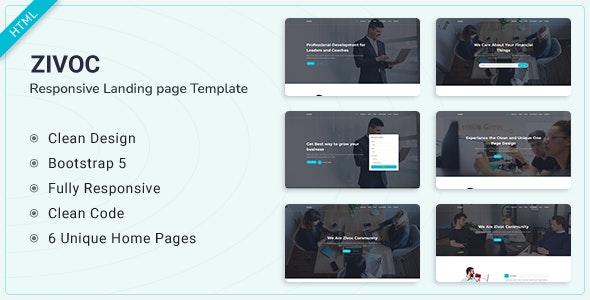 Zivoc v1.0 - Bootstrap 5 Landing Page Template preview image
