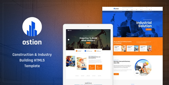 Ostion v1.0 - Construction & Industry Building Company HTML5 Template preview image