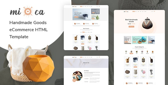 Mioca v1.0 - Handmade Goods eCommerce HTML Template preview image