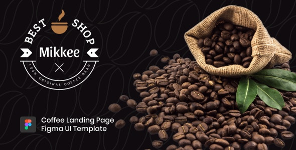 Mikkee v1.0 - Coffee Landing Page HTML Template preview image