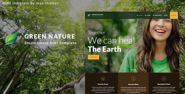 Green Nature v1.0 - Environmental HTML Template preview image