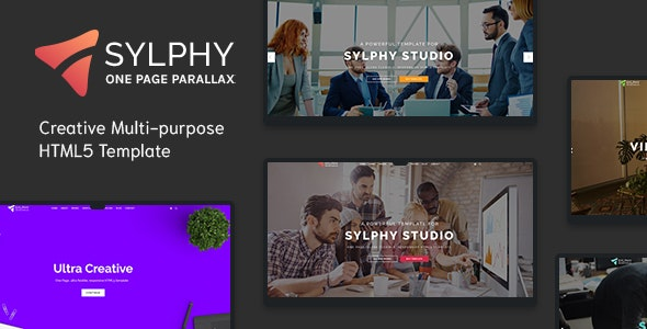 Sylphy v1.0 - Creative Multi-purpose HTML5 Template preview image