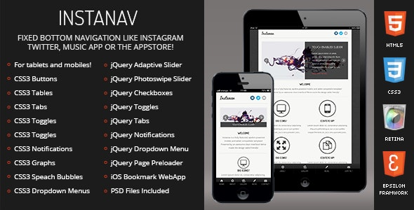 Instanav Mobile Template preview image