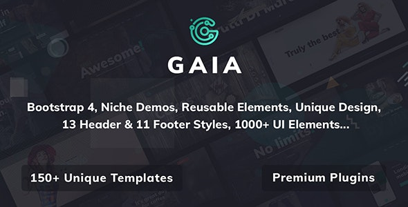 Gaia v1.0 - A High Performance Creative Template preview image
