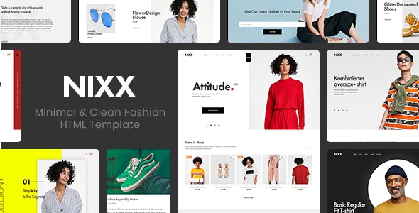 NIXX v1.0 – Minimal & Clean Fashion HTML Template preview image