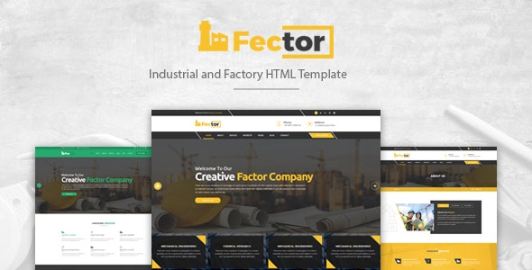 Fector - Factory & Industrial Business HTML Template preview image