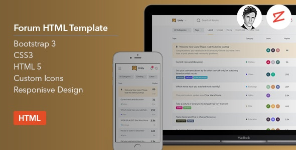 Forum HTML Template v1.0 preview image