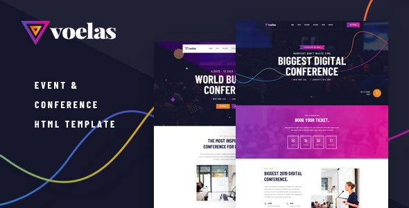 Voelas v1.0 - Event & Conference HTML Template preview image