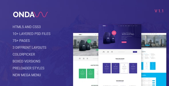 Onda v1.1 - Web Hosting, Responsive HTML5 Template preview image