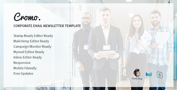 Cromo v1.0 - Corporate Email Newsletter Template preview image