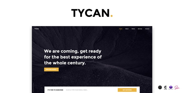 TYCAN v1.0 - Timeless Coming Soon Template preview image