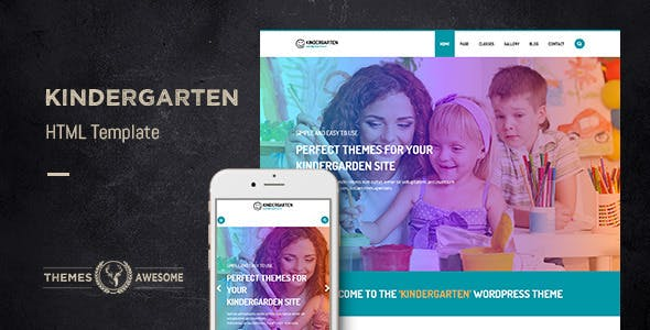 Kindergarten v1.0 - HTML template preview image
