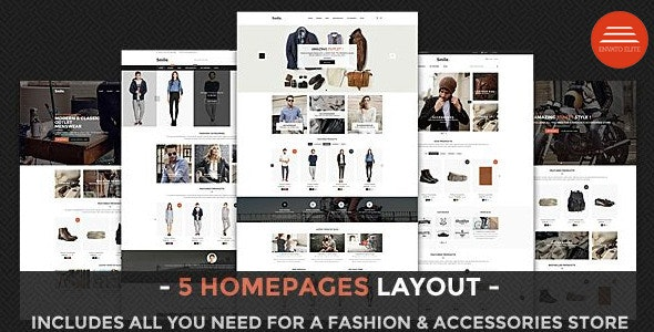 Smile - HTML E-commerce Template preview image