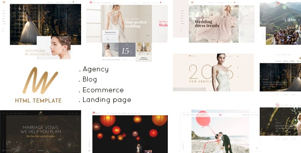 The VOW v1.0 - Wedding Responsive HTML Template preview image