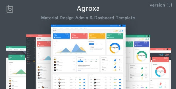 Agroxa v1.0 - Material Design Admin & Dashboard Template preview image