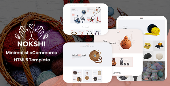 Nokshi - Handmade & Craft Bootstrap4 Template preview image